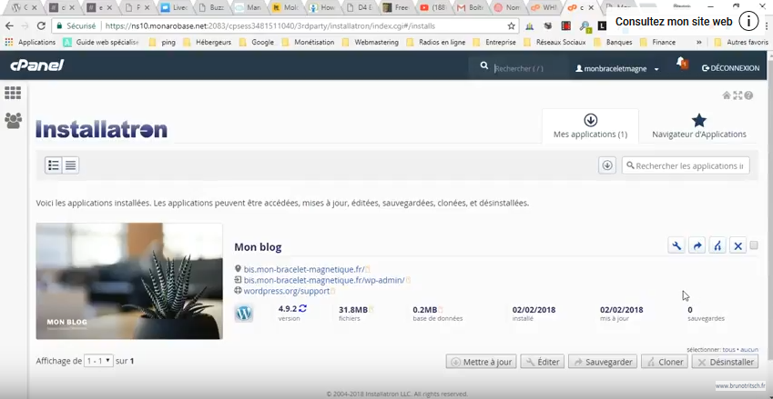 Comment cloner un site WordPress avec Installatron